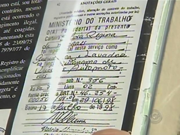 Registro em carteira é melhor forma de regularizar situação (Foto: Reprodução TV TEM)