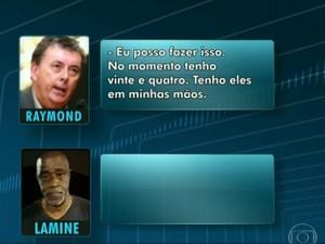 Escutas mostram negociação de CEO da Match com líder de cambistas (Foto: Reprodução/TV Globo)
