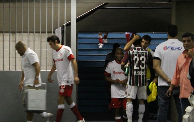 sobis saída vestiário engenhão inter fluminense libertadores (Foto: Diego Guichard/Globoesporte.com)