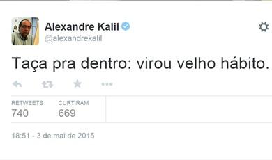 Alexandre Kalil fala sobre o título do Atlético-MG, do Campeonato Mineiro, no Twitter (Foto: Reprodução/Twitter)