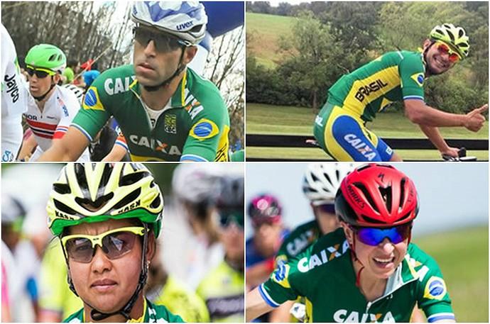Equipe brasileira do ciclismo de estrada na Rio 2016 (Foto: Divulgação/CBC)