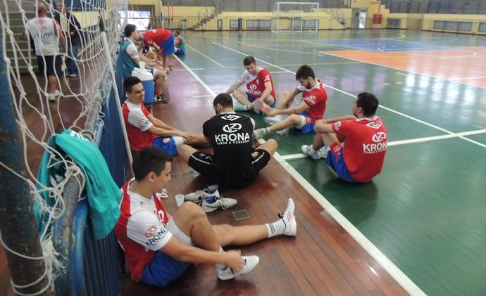 Joinville Futsal treino (Foto: João Lucas Cardoso)