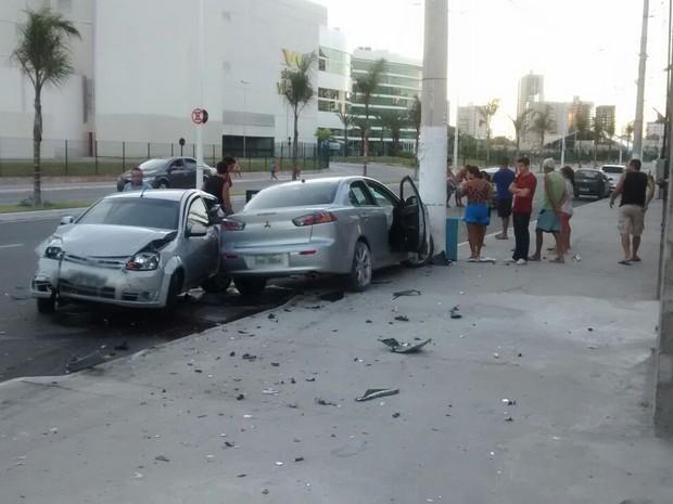 Acidente aconteceu em Vila Velha, no Espírito Santo (Foto: Carlos Henrique Rangel/ VC no ESTV)