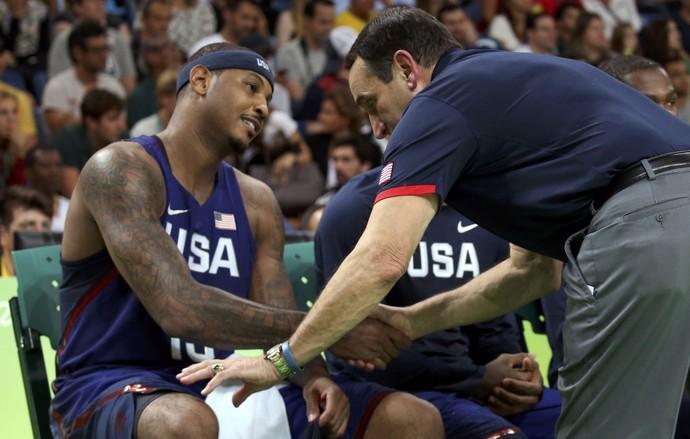 EUA, Sérivia, Basquete,  Carmelo Anthony (Foto: REUTERS/Shannon Stapleton)