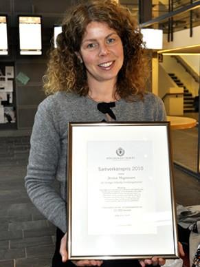 Jessica Magnusson foi premiada por sua colaboração no projeto de reaproveitamento de lixo em Boras, Suécia (Foto: Divulgação / Waste Recovery)