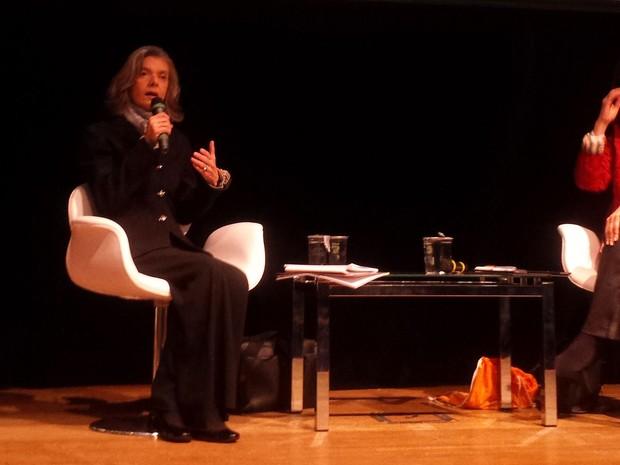 A ministra Cármen Lúcia participa de palestra no Congresso da Abraji em São Paulo (Foto: Rosanne D'Agostinho/G1)