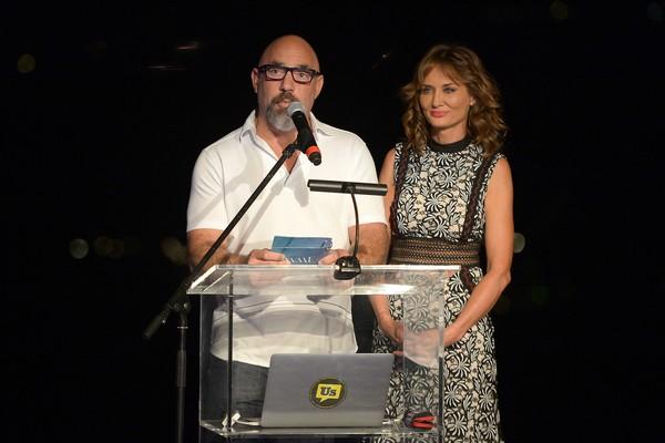 Adam Venit ao lado da esposa, Trina (Foto: Getty Images)