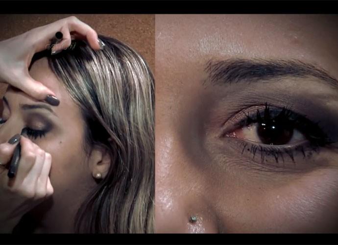 Sandy finaliza make que é a sua cara (Foto: Gshow/TV Globo)