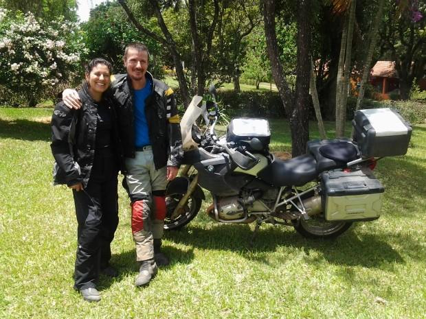 Rafael e Liliane viajaram mais de 22 mil quilômetros (Foto: Fábio Campos / TV TEM)
