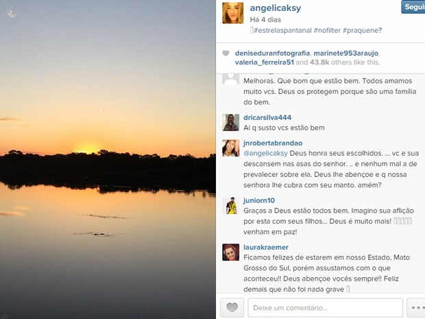 No Instagram de Angélica, público também deixou recados e mensagens para a família (Foto: Reprodução/Instagram)