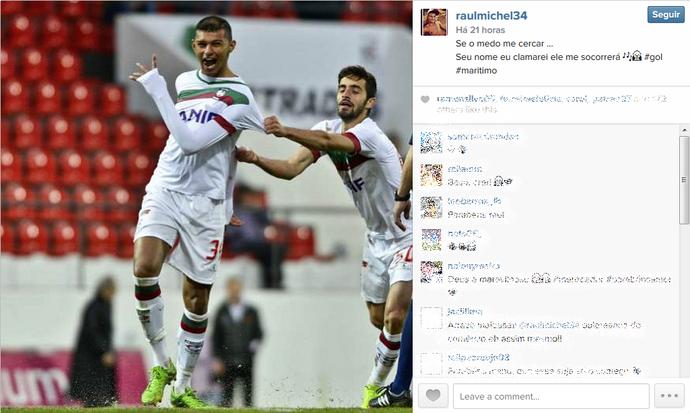 Raul zagueiro do Marítimo (Foto: Reprodução/Instagram)