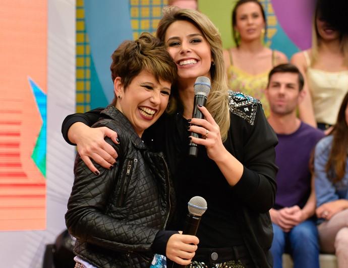Maureen e Daiane Estúdio C (Foto: Priscilla Fiedler/RPC)