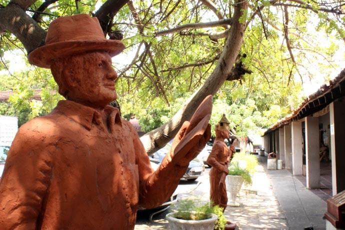 Ambiente guarda parte da história do Piauí e muitos trabalhos de artistas talentosos (Foto: Katylenin França/Gshow)
