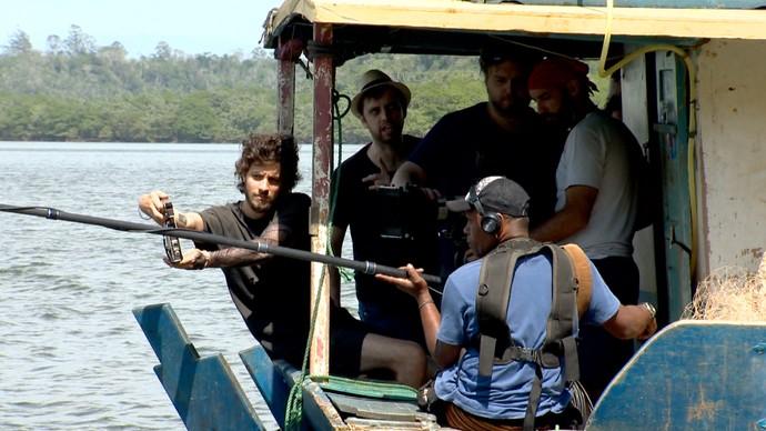 Chay Suede grava primeiro filme em Aracruz, norte do ES (Foto: Divulgação/ TV Gazeta ES)