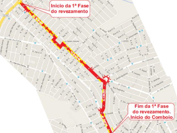 Primeiro trecho da tocha acontece no Setor Garavelo, em Aparecida de Goiânia (Foto: Divulgação/Prefeitura de Aparecida de Goiânia)