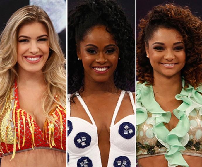 Vencedoras do concurso 'Bailarina do Faustão' (Foto: Raphael Dias / Gshow)