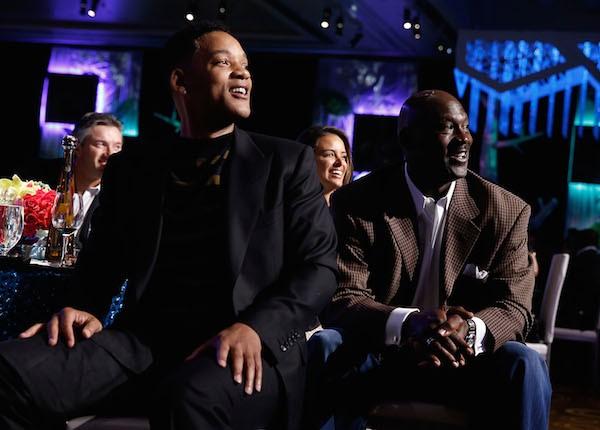 O ator Will Smith e o ex-jogador de basquete Michael Jordan (Foto: Getty Images)
