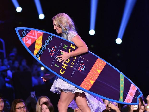 Britney Spears em premiação em Los Angeles, nos Estados Unidos (Foto: Kevin Winter/ Getty Images/ AFP)