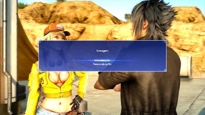 Final Fantasy XV: inicie o diálogo com Cindy depois de concluir as missões primárias (Foto: Reprodução/Victor Teixeira)