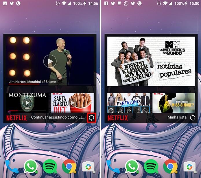 Netflix pode exibir listas do usuário e lançamentos na tela inicial do Android (Foto: Reproduçção/Elson de Souza)