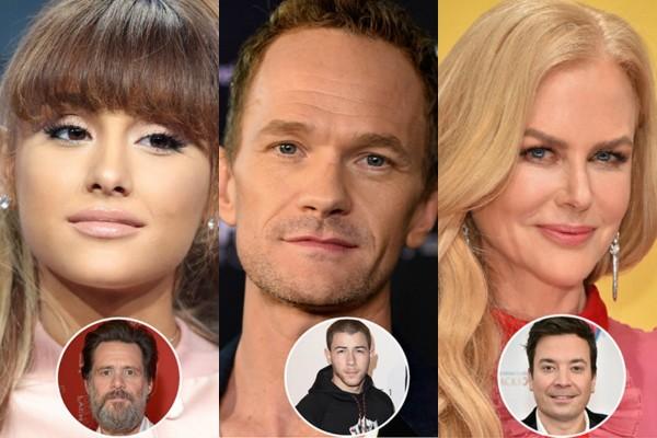 Ariana Grande, Neil Patrick Harris e Nicole Kidman (Foto: Getty Images)