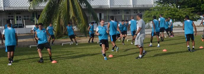 Treino do Botafogo-PB, atacante rafael aidar (Foto: Amauri Aquino / GloboEsporte.com/pb)