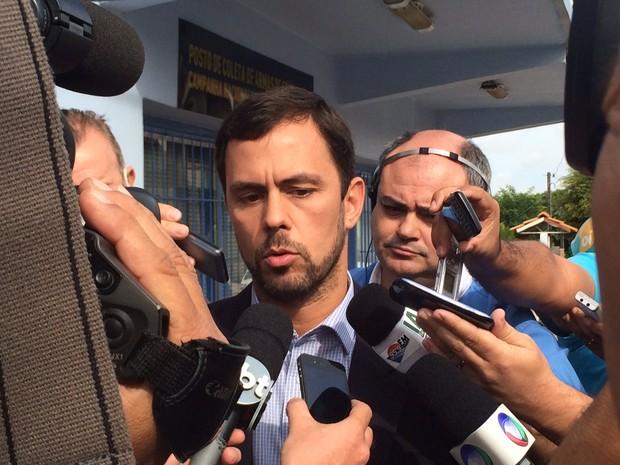 Jader Marques coletiva três passos bernardo boldrini (Foto: Fabio Almeida/RBS TV)