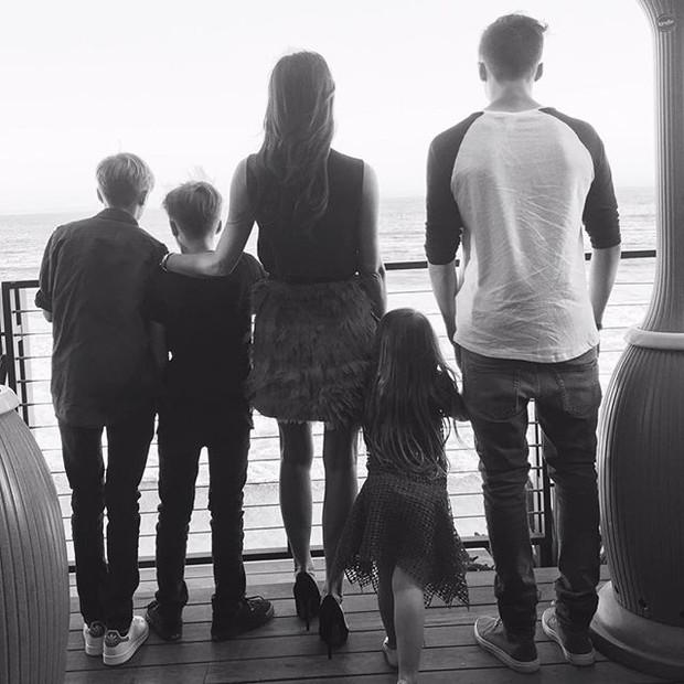 David Beckham homenageia a esposa, Victoria, no Dia das Mães (Foto: Reprodução/Instagram)