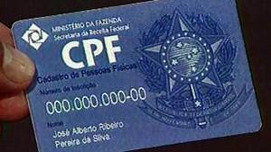 CPF (Foto: Rede Globo)