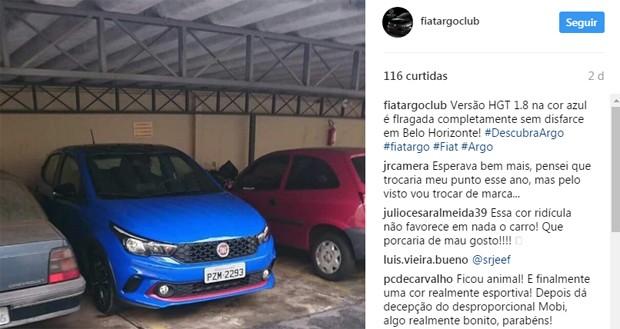 Fiat Argo aparece em flagras pela internet (Foto: Reprodução)