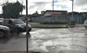 Rompimento de adutora deixa trânsito lento em avenida da capital  (Júnia Vasconcelos/Arquivo pessoal)