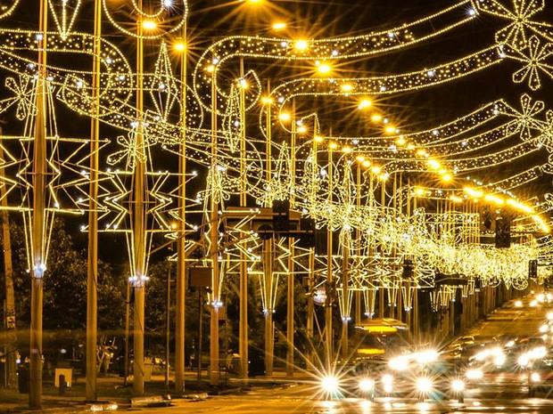 Decoração natalina na Theotônio segurado em Palmas (Foto: Divulgação/Clóvis Cruvinel)