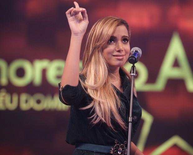 Essa fera cantou no palco do Domingão! (Foto: Pedro Curi / TV Globo)