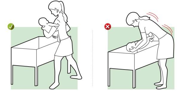 Colocar criança no berço (Foto: Editora Globo)