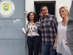 Roberto Jefferson sai de instituto penal para regime aberto (Foto: Mariucha Machado / G1)