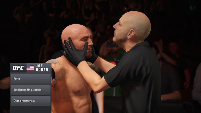 EA Sports UFC 2: comentarista é faixa-preta em Jiu-Jitsu (Foto: Reprodução/Victor Teixeira)