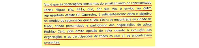 (editado) Parecer Comitê Ética São Paulo Página 17 (Foto: Arte: GloboEsporte.com)