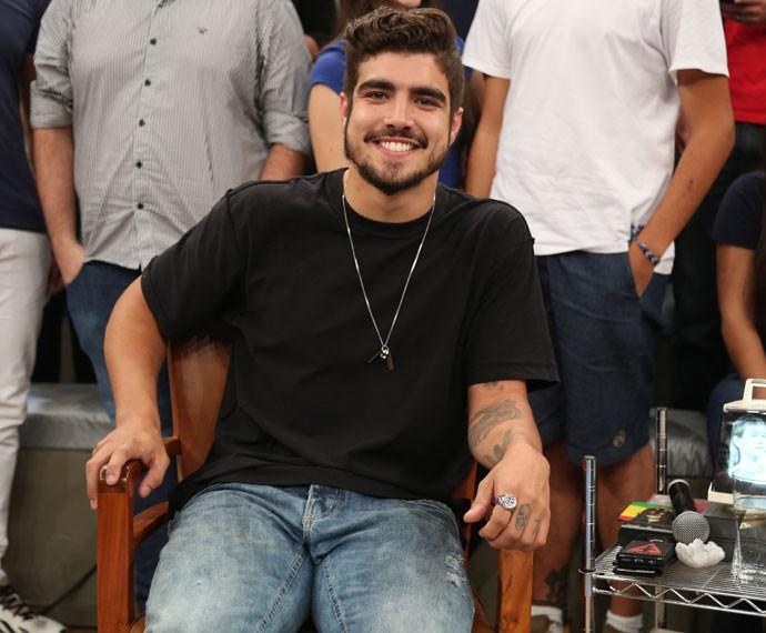 Caio Castro participa da gravação do programa Altas Horas (Foto: Carol Caminha/Gshow)