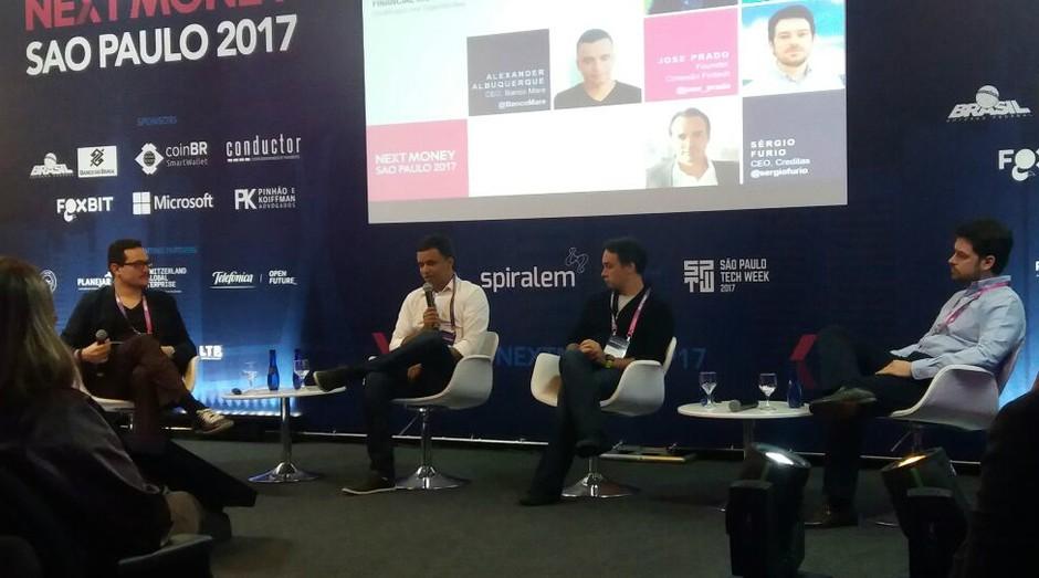 Bruno Diniz, Alexander Albuquerque, Sérgio Furio e José Prado no NextMoney São Paulo 2017. (Foto: Júlio Viana)