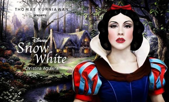 Christina Aguilera como Branca de Neve (Foto: Thomas Kurniawan)