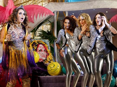 (Foto: Claudia Abreu, Taís Araújo, Leandra Leal e Isabelle Drummond em cena de 'Cheias de charme'/Foto: TV Globo)