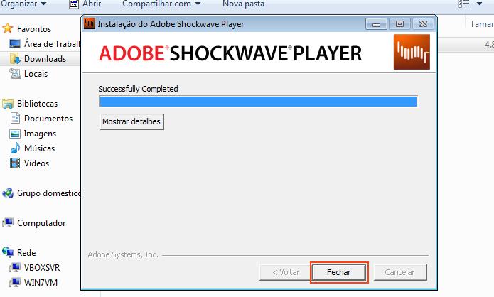 Atualizando Shockwave Player (Foto: Reprodução/Edivaldo Brito)