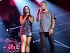 Anitta é atingida por lata em show com Projota e rapper dá bronca em fã