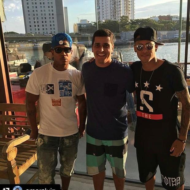 Neymar com Ja rule (Foto: Reprodução/Instagram)