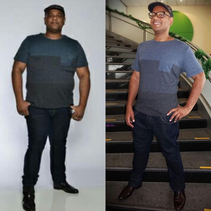 O ex-BBB André Gabeh perdeu 45 quilos   (Foto: Arquivo pessoal )
