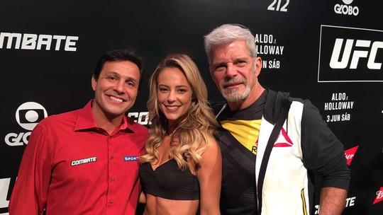 Paolla Oliveira grava cenas de Jeiza durante UFC