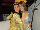 Solange Gomes reencontra irmã após 10 anos