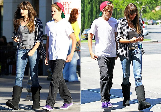 Paris Jackson e o namorado (Foto: The Grosby Group)