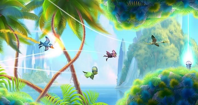 Pássaros estranhos tenta escapar pela selva neste jogo com visual incrível (Foto: Divulgação)