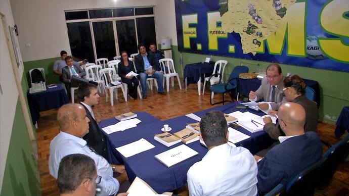 Julgamento do caso Naviraiense no TJD-MS (Foto: Reprodução/TV Morena)